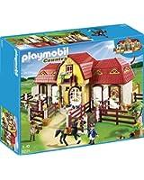 Playmobil - 5221 - Jeu de Construction - Haras avec Chevaux et Enclos