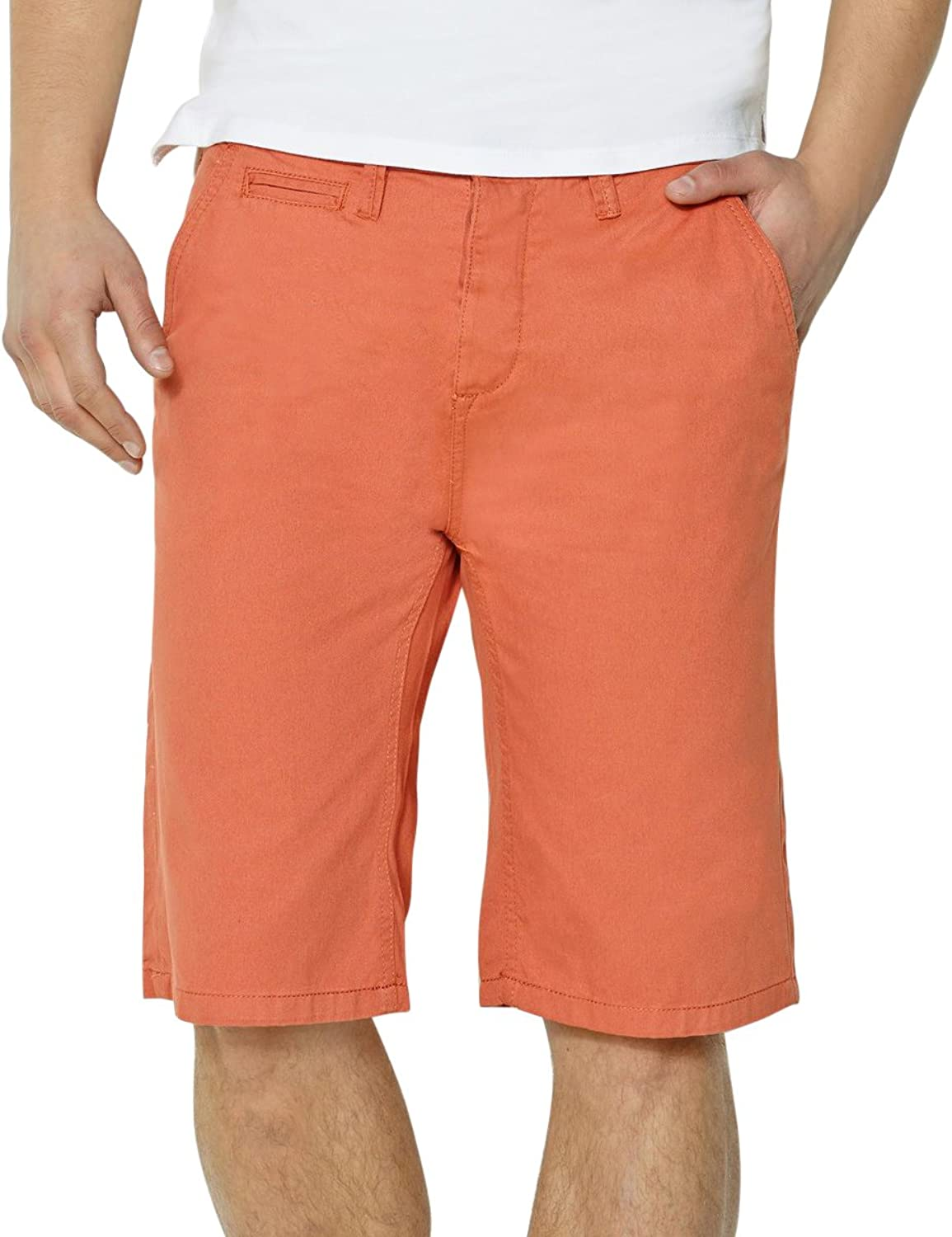 R Edition Shopping Prix Mens Straight-Cut Button Fly Chino Style Bermuda Shorts r edition