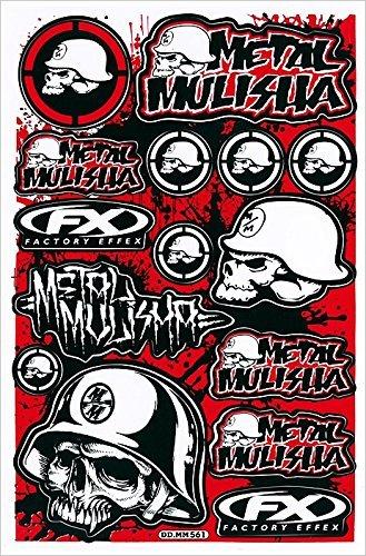 Rockstar Energy Drink Metal Mulisha Yamaha Kawasaki Motorcross Race Racing F1 Logo Sponsor Sticker Decal Skateboard Car Bike Bicycle Kid Wall Helmet Decoration Red (Metal Mulisha Decals compare prices)