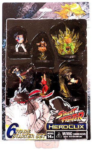 Picture of WizKids Street Fighter Heroclix Deluxe Starter Game Includes 6 Figures (B0051QCMRM) (WizKids Action Figures)