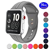 Apple Watch Band Silicone 42mm,Sundo Iwatch Replacement Wrist Strap Bracelet Band for Apple Watch Nike+ Sport Edition Series 1 Series 2 Series 3 (Concrete 42ML)