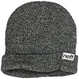 neff-Men's-Fold-Heather-Beanie-Black-Grey-One-Size