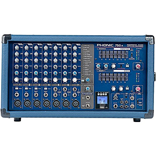 Phonic Powerpod 750R 500W 7-Channel Powered Mixer with USB Recorder (Preset Hi Mixer compare prices)