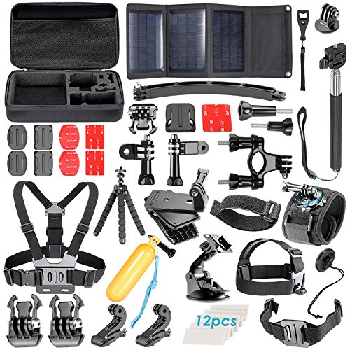 Neewer® 51-In-1 Sport Accessory Kit for GoPro Hero4 Session Hero1 2 3 3+ 4 SJ4000 5000 6000 7000 Xiaomi Yi in Swimming Rowing Skiing Climbing Bike Riding Camping Diving and Other Outdoor Sports (Omo Steering Wheel compare prices)