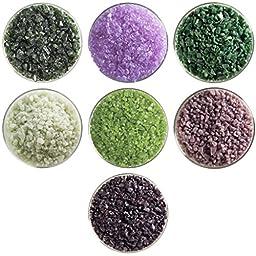 Artichoke Designer Collection - 7 Colors, 90 COE, Bullseye Glass Coarse Frit Sampler Pack