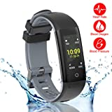 READ New Smart Fitness Tracker, Smart Watch with Blood Pressure Heart Rate Sleep Pedometer Camera remote shoot Blood Oxygen Monitor Smart Wristband Bracelet for Bluetooth Andriod and ios (G16-GRAY)