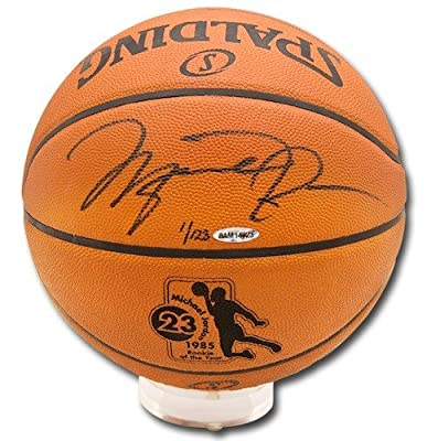 MICHAEL JORDAN Signed Rookie Of The Year Basketball UDA LE 123
