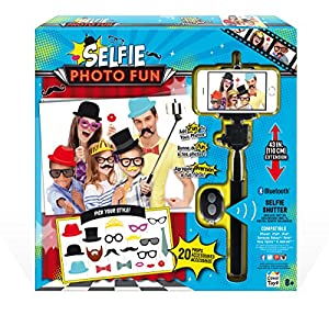 selfie stick photo booth fun kit by canal toys usa toys games. Black Bedroom Furniture Sets. Home Design Ideas