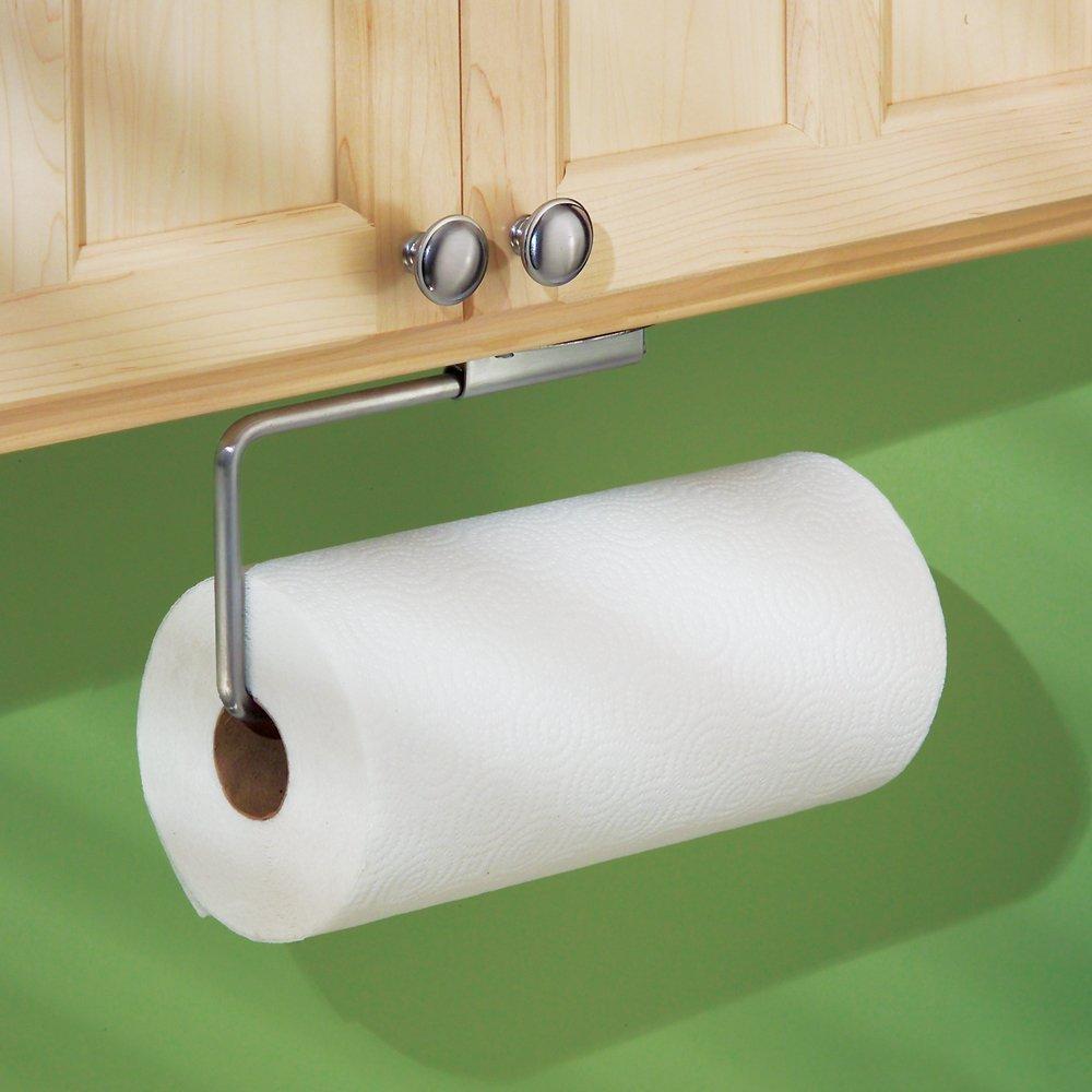 interdesign swivel wall mount paper towel holder brushed stainless steel new ebay. Black Bedroom Furniture Sets. Home Design Ideas