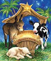 Born in a Manger - 200 Piece Jigsaw Puzzle By Sunsout Inc.