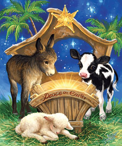 Born in a Manger 200 Piece Jigsaw Puzzle by SunsOut