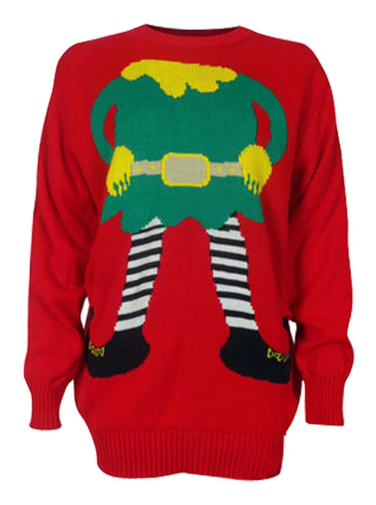 Knitting Pattern For Elf Jumper : Novelty Knitted Elf Christmas Jumpers Like Grandma Used To ...