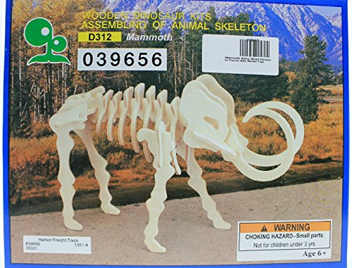 IQ Assembling Products Series Balsa Wood 3D Puzzle Mammoth