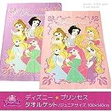 タオルケット ディズニー プリンセス ハーフサイズ(ジュニアサイズ) 100×140cm DJ16-61-1014 (パープル)