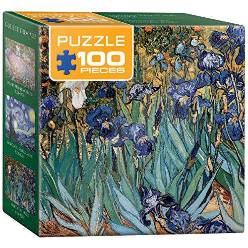EuroGraphics Irises by Vincent Van Gogh Mini Puzzle (100-Piece)
