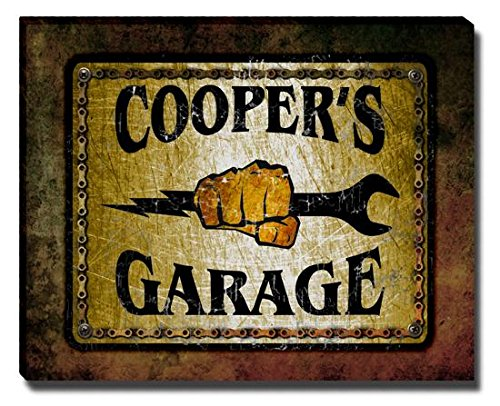 coopers-garage-stretched-canvas-print