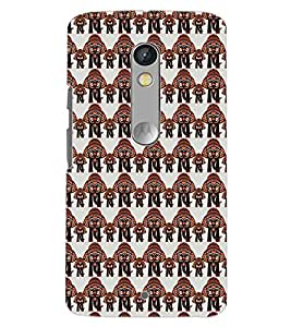 PrintDhaba ELEPHANT PATTERN D-6684 Back Case Cover for MOTOROLA MOTO X PLAY (Multi-Coloured)