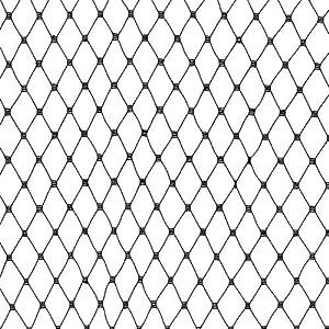 18'' Russian Netting Black Fabric