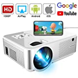Mini Projector 3600 Lumens, Ifmeyasi Portable Video Projector Native 720P Full HD, LED Home Theater Projector, Support 1080P with 2HDMI, 2USB, AV, VAG for Smartphones PC Laptop Video Games (Color: White)