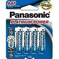 Panasonic Energy Corporation LR6XP/8B Platinum Power AA Alkaline Batteries, 8 Pack