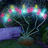 SolarDuke Solar Dragonfly Lights Outdoor 5 Blinking Dragonflies For Night Garden Patio Decor (Dragonflies)