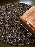 benuta Teppiche: Shaggy Langflor Hochflor Teppich Coco Braun ø 200 cm rund – 100% Polypropylen – Uni – Maschinengewebt – Wohnzimmer