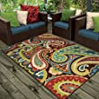 Orian Rugs Indoor/Outdoor Paisley Monteray Multi Area Rug (5\'2\