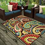 Orian Rugs Indoor/Outdoor Paisley Mon...