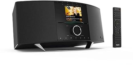 Hama Radio internet Radio numérique avec lecteur CD (Wi-Fi/Lan/DAB +/FM/CD/multiroom/Bluetooth, USB, télécommande, 2,8pouces écran couleur, application gratuite Noir