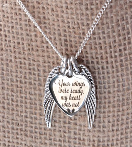 Memorial necklace your wings were ready my heart was not for Your wings were ready but my heart was not tattoo