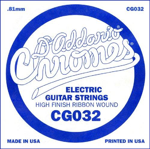 D'Addario Cg032 Flat Wound Electric Guitar Single String, .032