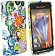 SONY ERICSSON XPERIA X12 ARC / X12 ARC S CIRCLES AND FLOWERS TPU GEL CASE / COVER / SKIN BY KIT ME OUT UK
