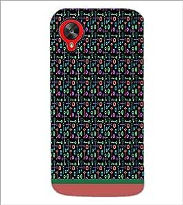 PrintDhaba Key Pattern D-1001 Back Case Cover for LG GOOGLE NEXUS 5 (Multi-Coloured)