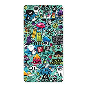 Premium Candy Back Case Cover for Sony Xperia C4