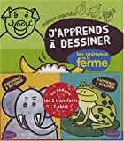 J'apprends  dessiner les animaux de la ferme + 2 transferts pour T-Shirt en cadeau