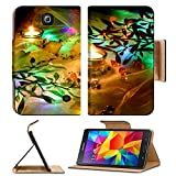 Luxlady Premium Samsung Galaxy Tab 4 7.0 Inch Flip Pu Leather Wallet Case IMAGE ID: 34471262 christmas candles and mistletoe as holiday background