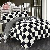 Black/white abstract geometric Print blushed duvet cover Bed sheet Pillowcase 4pcs/set Home textile SP1695