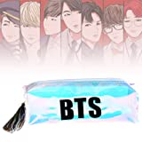 Kpop BTS Bangtan Boys Pencil Case Pouch Coin Wallet School Supplies BTS Stationery Zipper Bag (Multicolor) (Color: Multicolor)