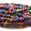 "Pretty Pebbles Beads - 32"" Mixed Colour Shell Chip Beads 8mm - 15mm"