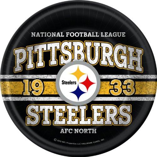 Pittsburgh Steelers Plastic Dinner Hallmark Plates (8 pack) at Steeler Mania
