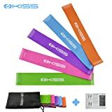 OKISS Resistance Loop Exercise Bands 100% Natural Latex Workout Bands Set  of 5 for Home f81fef2f3fbcd