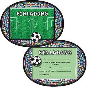Einladungskarten * FUSSBALL-STADION * für Kindergeburtstag und ...