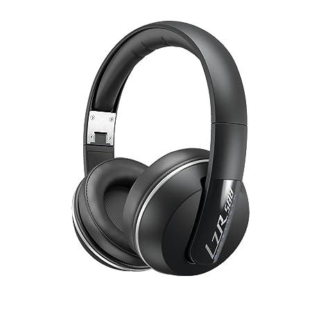 Magnat LZR 588 BT Casque d'écoute over-ear/circum-aural Bluetooth Noir/argenté Argenté