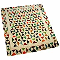 Woven Magic 122 x 92 cm 48 x 36-inch Fine Wool with Cotton Backing Rug-SM116-Solid Magic-Vibrant Solid from Woven Magic