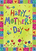 Mother's Day Flowers Garden Flag Butterfly Spring Floral Mom Decorative 12