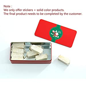 Tianhui Classic Box Rectangular Christmas Red Empty Tin Box Containers, Gift, Jewelry and Storage Tin Kit, Home Organizer (Christmas, S) (Color: Christmas, Tamaño: S)