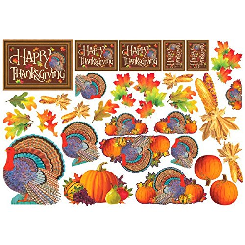 Thanksgiving Cutout Room D�coration Value Pack 30 ct Thanksgiving Party Supply