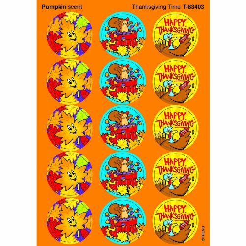 Trend Enterprises Thanksgiving Time Stinky Stickers (T-83403) - 1