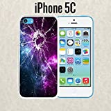 iPhone Case Cracked Screen Prank for iPhone 5c Plastic White (Ships from CA)