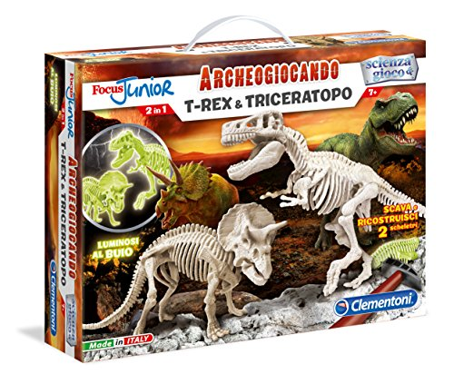 Clementoni 13902 - Focus T-Rex & Triceratopo